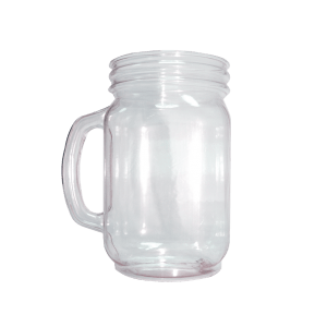 24oz Handled Mason Jar in Clear - USBev Plastics