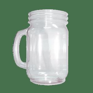 32oz Handled Mason Jar in Clear - USBev Plastics