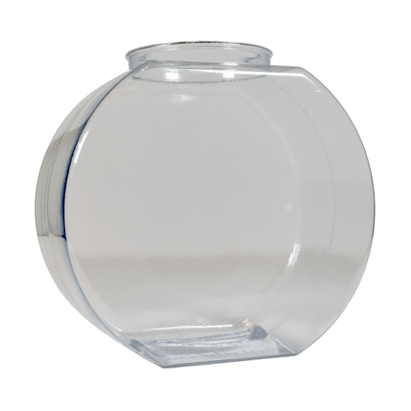 64oz Fishbowl Flat Front Clear Custom Cup - USBev Plastics